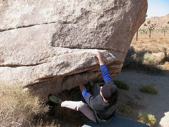 Rock Climbing Photo: Press Release (V1), Joshua Tree NP