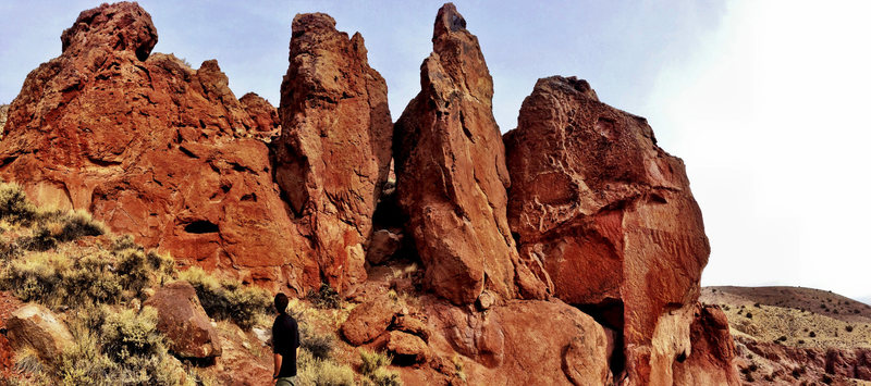 Rock Climbing Photo: The main formation at Contra Canyon.