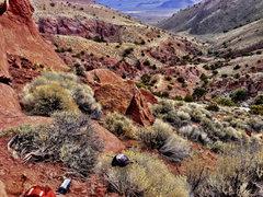 Rock Climbing Photo: A view of the parking spot and approach.  Beautifu...