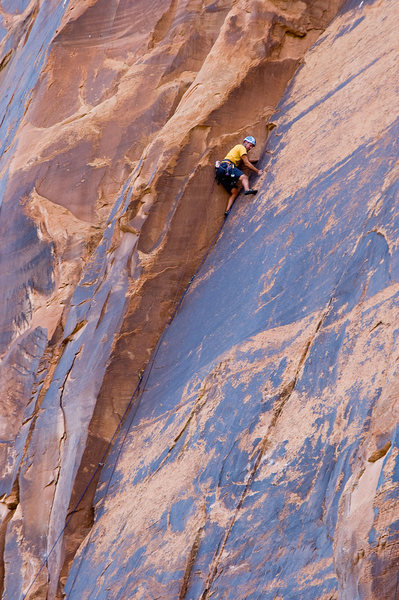 Rock Climbing Photo: Lynn Sanson on the first ascent.
