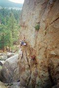 Rock Climbing Photo: Pete starting up Unforgiven (5.11b), Holcomb Valle...