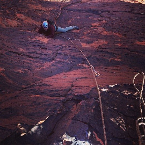 Rock Climbing Photo: Nicholas Martin reaching the final moves of the se...