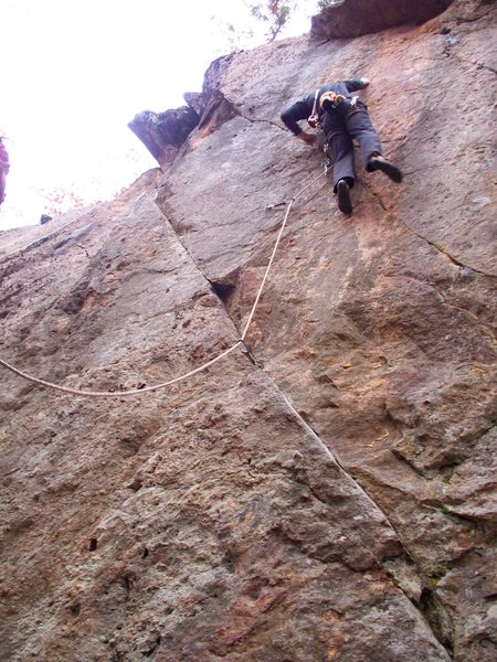 Rock Climbing Photo: Myself on the first ascent
