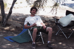 Rock Climbing Photo: Relaxing in a City of Rocks campsite with a craft ...