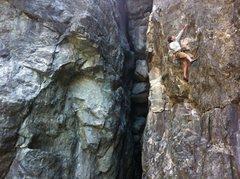 Rock Climbing Photo: Brad Johnson on Sub Zero .11b. Emeralds Upper Gorg...