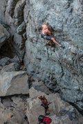 Rock Climbing Photo: Mike on Super Alpine .11a. Emeralds, Upper Gorge. ...