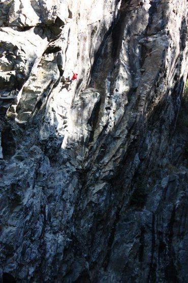 Tom Addison on Whirl Pool .12a. Emeralds Upper Gorge