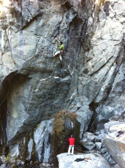 Mike and Josh working Game of Thrones .12c. Emeralds Gorge.
