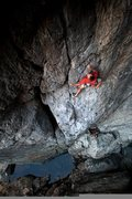 Rock Climbing Photo: Mike on Resurrection .11c. Wishing Well. Emeralds ...