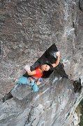 Rock Climbing Photo: Sanam on Rock n Rolla .9. Candy Land, Bowman Valle...