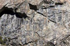 Rock Climbing Photo: Josh heading up Larry Land .11c. Bowman Valley, CA...