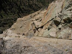 Rock Climbing Photo: Davito Hammack following pitch 4. We did a variati...