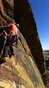 Rock Climbing Photo: Matt starting off the delicate footwork where Art'...