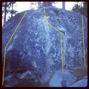 Rock Climbing Photo: Photo from ciotti showing some problems on the Pea...