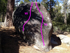 Rock Climbing Photo: Problems 1 and 2 on the Peace Boulder