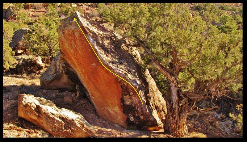 Rock Climbing Photo: Draconian Binger beta.
