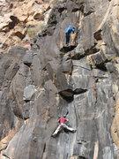 Rock Climbing Photo: q shoots jj on dark arts