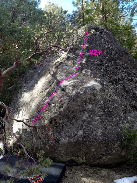 Rock Climbing Photo: The Heelmantle Boulder (and problem)