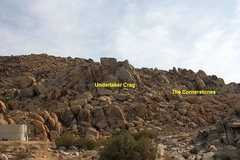 Rock Climbing Photo: The Cornerstones as seen from the parking area, Th...