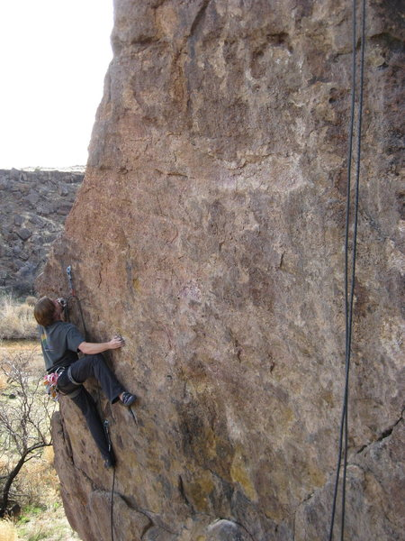 Rock Climbing Photo: The crux section.