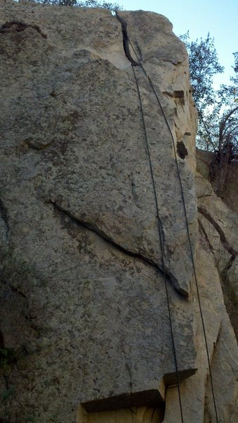 Rock Climbing Photo: You can see the Fermi Level crack at the top befor...
