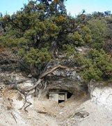 Rock Climbing Photo: Mine entrance, Mojave National Preserve