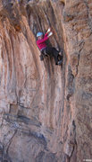 Rock Climbing Photo: Laybacking the large tufas Tufa Consequences (5.10...