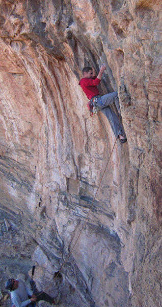 Rock Climbing Photo: Pinch me I'm dreaming Tufa climbing in NM - FA of ...
