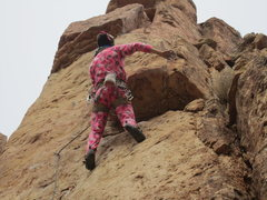 Rock Climbing Photo: Having fun on I LEAN!