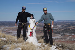 Rock Climbing Photo: Snowman on the Summit