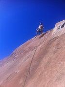 Rock Climbing Photo: Jeremy setting up TR