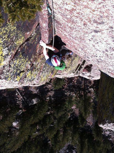 Rock Climbing Photo: P3, Long John Wall.