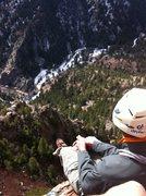 Rock Climbing Photo: P4 Belay Ledge. Gambit, Eldorado Canyon.