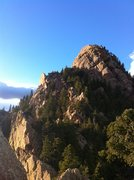 Rock Climbing Photo: Looking N from the top out of Rewritten. Eldorado ...