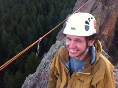 Rock Climbing Photo: John getting psyched to start the traverse. (Pruss...