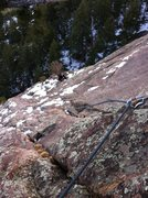 Rock Climbing Photo: January climb in the vicinity of Baker's Way. Show...