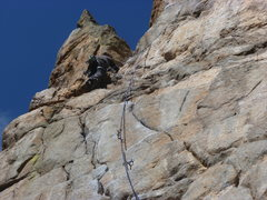 Rock Climbing Photo: To the left of the last bolt.