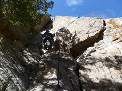 Rock Climbing Photo: At the third bolt, now that there are two newer bo...