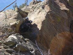 Rock Climbing Photo: At the third bolt.
