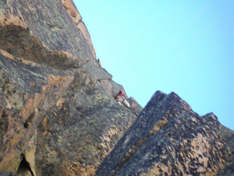 Rock Climbing Photo: Don Cambell on pitch 3