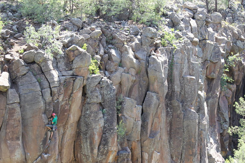 Rock Climbing Photo: the cruise to the top