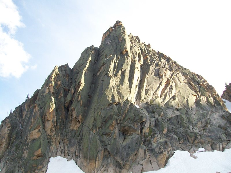 Tiptoes goes up just right of the arete across from the Open Book route.