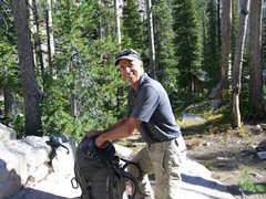 Don Cambell after the hike back to Hell Roaring lake. After we climbed Tiptoes.