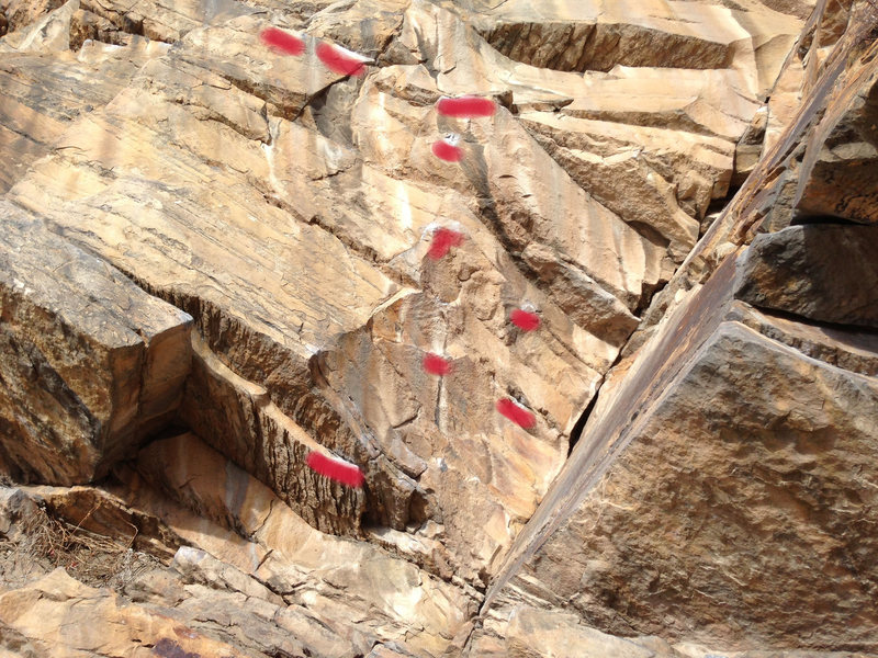 Rock Climbing Photo: Morrison Dihedral holds.