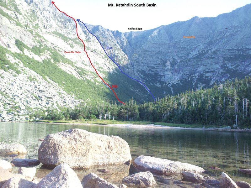 Rock Climbing Photo: South Basin from Chimney Pond.
