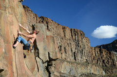 Rock Climbing Photo: Working up to the crux