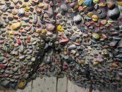 Rock Climbing Photo: Steven Jeffery's home wall.