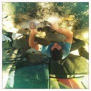 Rock Climbing Photo: Joe again solid on the crux