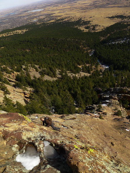 Rock Climbing Photo: Valley views.
