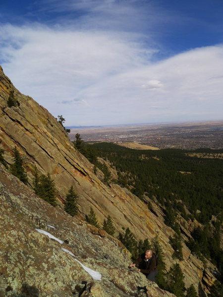 Rock Climbing Photo: Near the bulge.